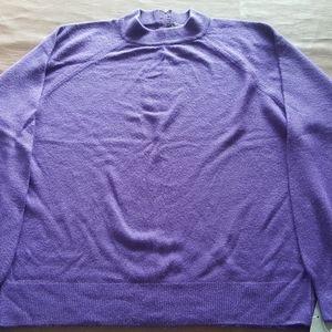 Designers Originals L w/tags Purple Sweater